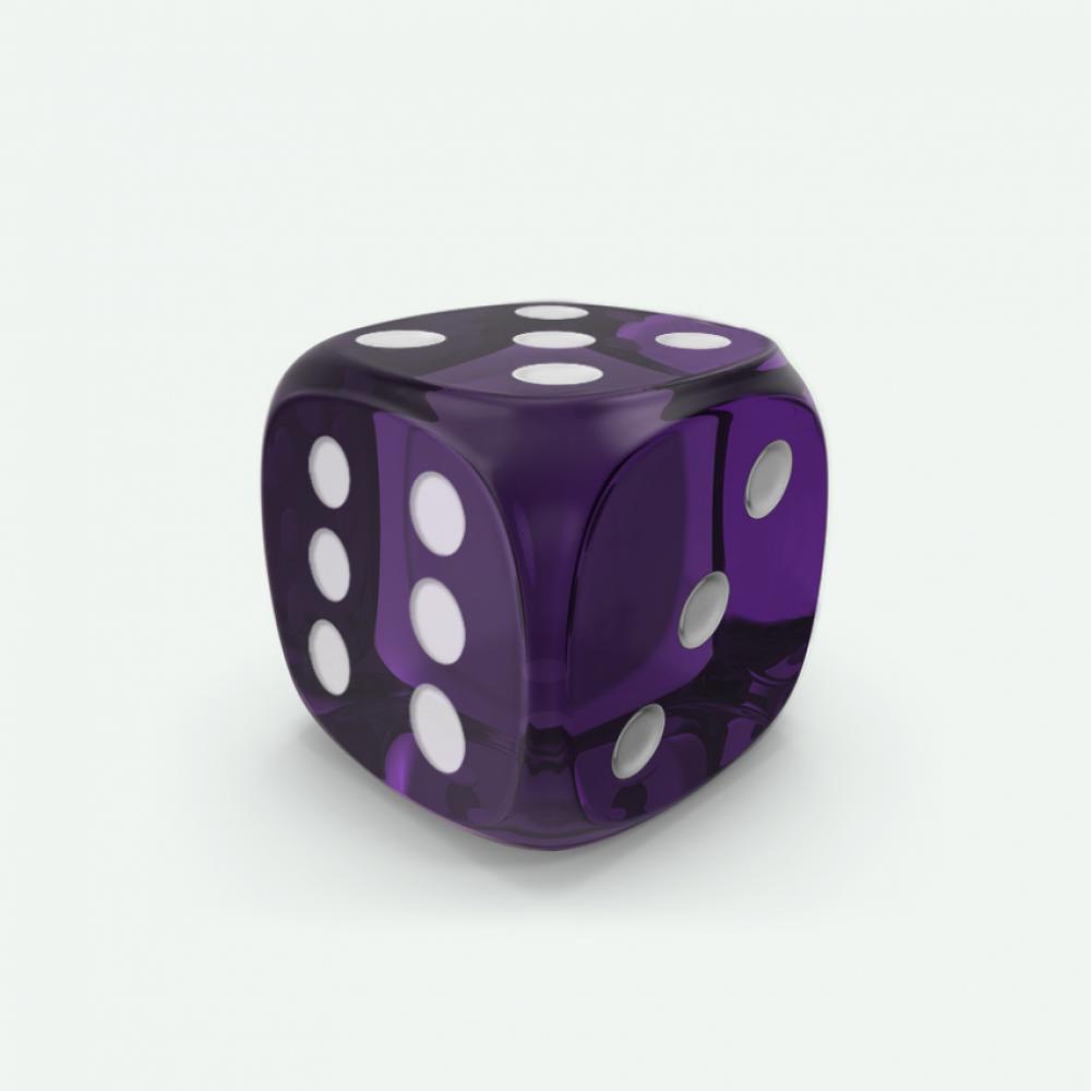 Violet gem D6 Mokko dice
