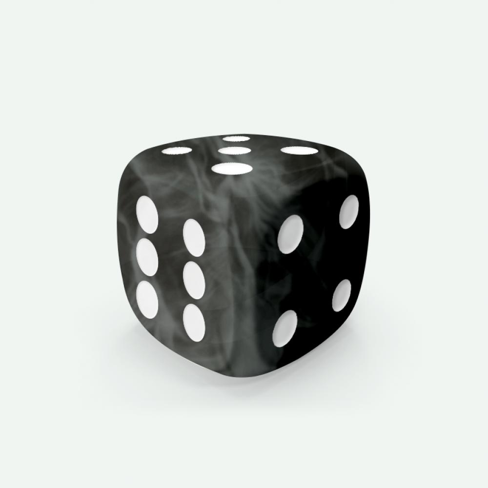 Black marble D6 Mokko dice