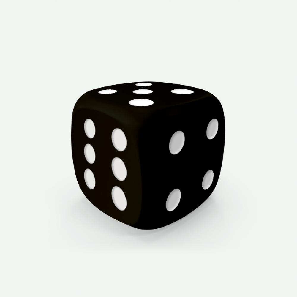 Black D6 Mokko dice