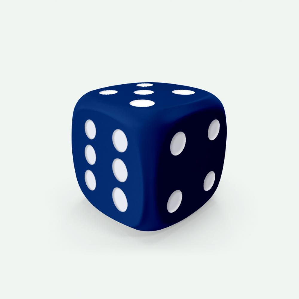 Blue D6 Mokko dice