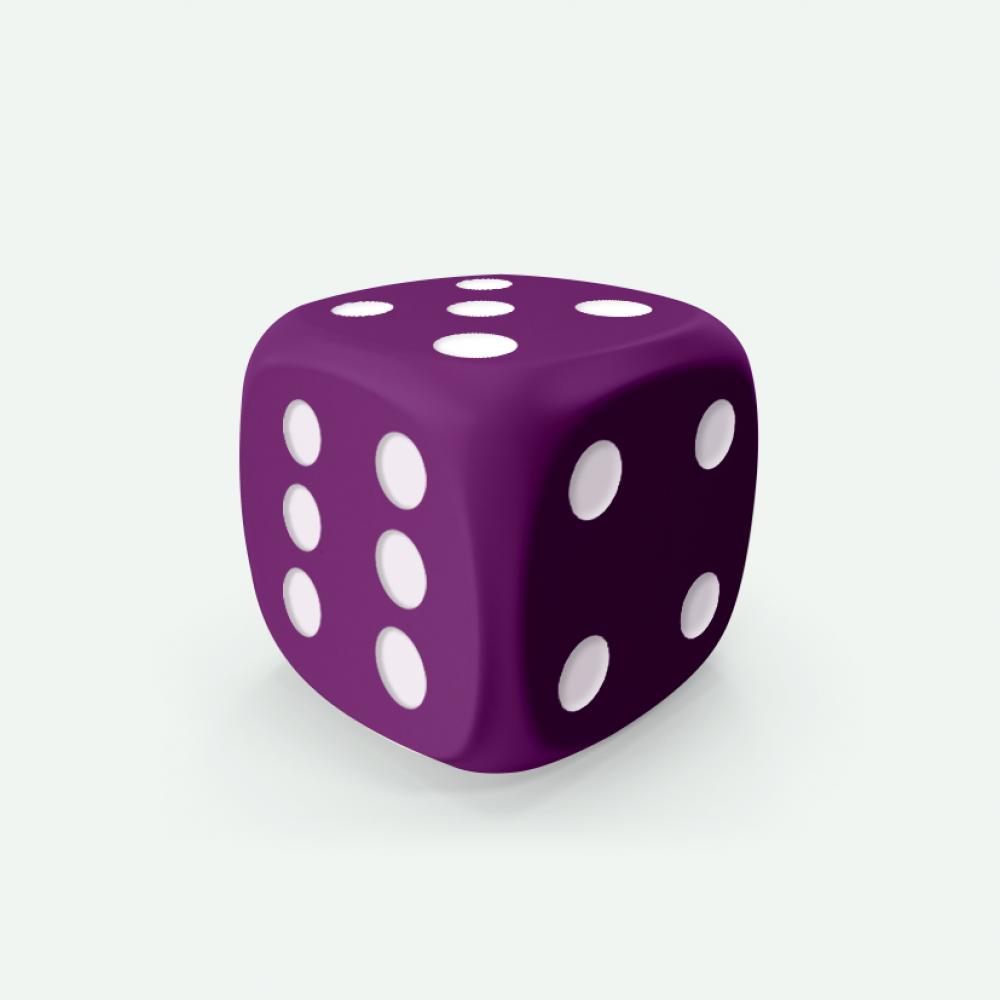 Purple D6 Mokko dice