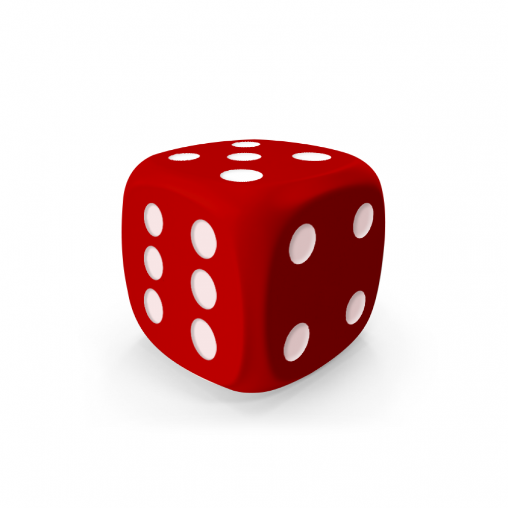 Red D6 Mokko dice