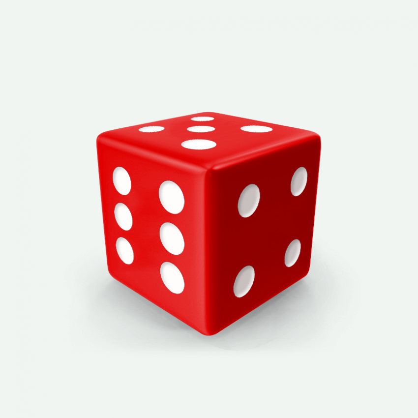 Mokko dice D6 16mm square corner solid color scarlet red